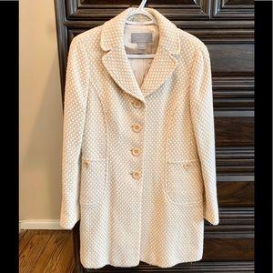 Ann Taylor Wool Coat-gold/tan& winter white,size 4